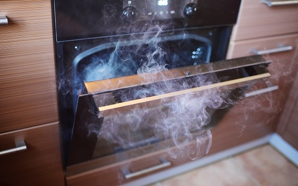 Chemical smell from oven